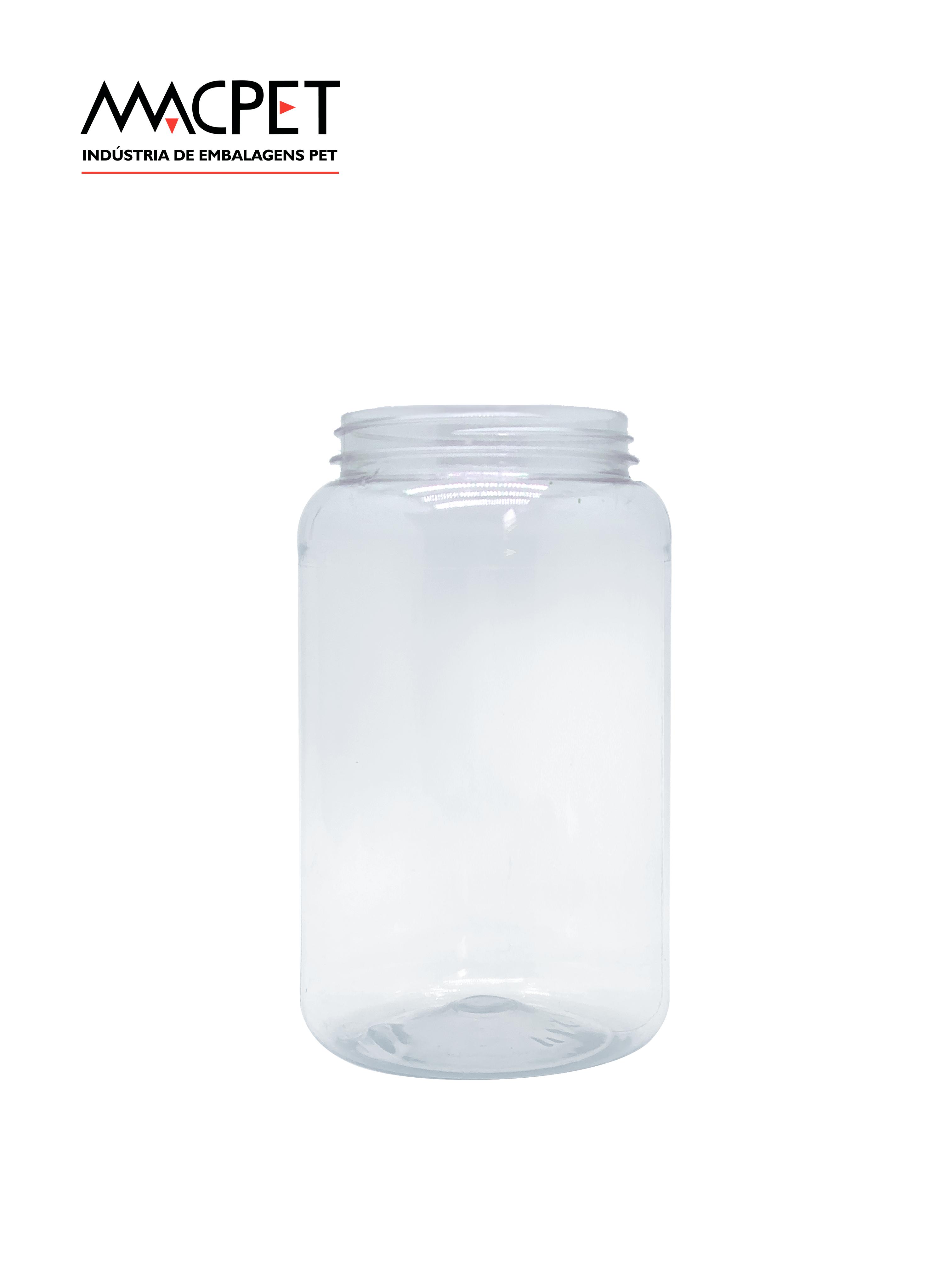 LINHA 07 – 500ml – Bocal 63mm – (F048B) – Embalagem pet Redonda para Potes