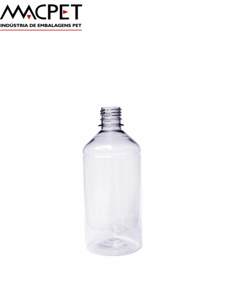 LINHA 05 – 500ml – Bocal 28mm – (F029A) – Embalagem pet Redonda para Química e Farmaceutica