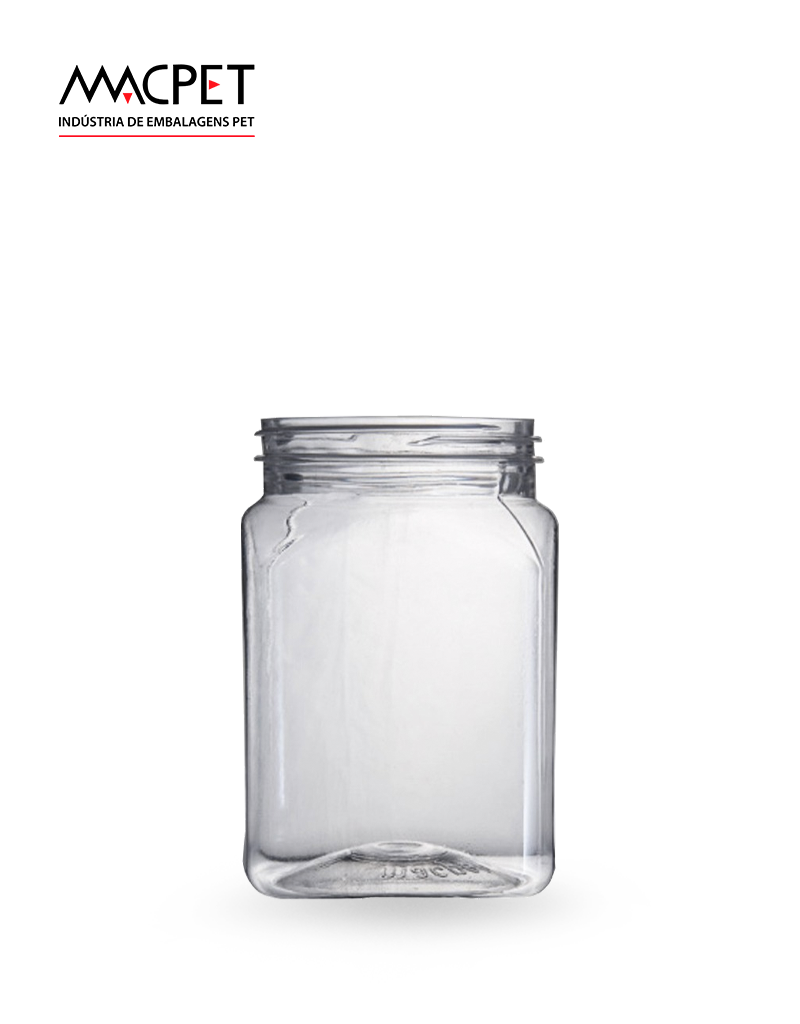 LINHA 08 – 360ml – Bocal 63mm – (F041) – Embalagem pet Quadrada para Potes