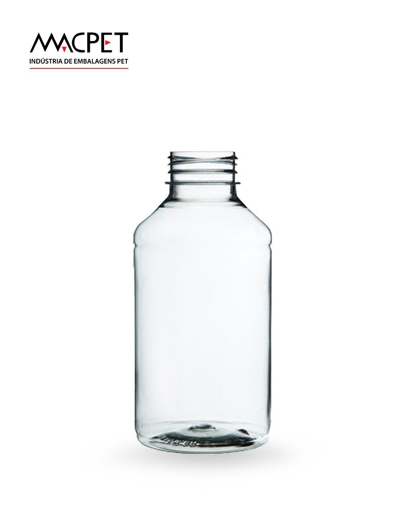 LINHA 6 – 500ml – Bocal 38mm – (F029B) – Embalagem pet Redonda para Capsulas e Suplementos