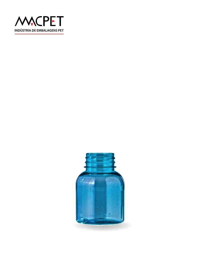 LINHA 6 – 160ml – Bocal 38mm – (F159) – Embalagem pet Redonda para Cápsulas e Suplementos