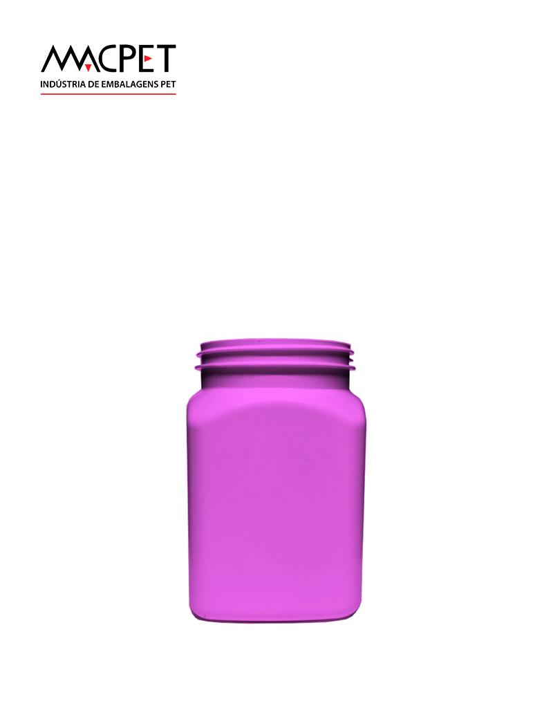 LINHA 08 – 300ml – Bocal 63mm – (F114) – Embalagem pet Quadrada para Potes
