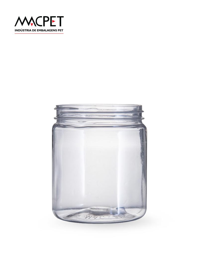 LINHA 07 – 250ml – Bocal 63mm – (F052) – Embalagem pet Redonda para Potes