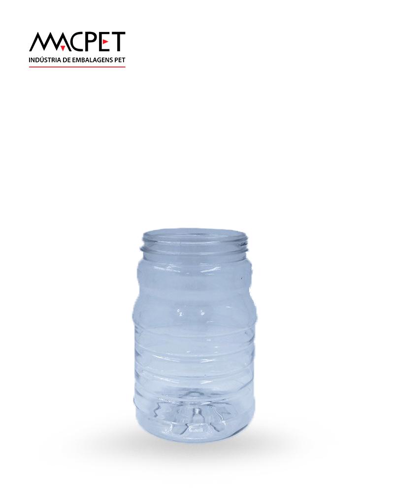 LINHA 07 – 350ml – Bocal 63mm – (F056) – Embalagem pet Redonda para Potes