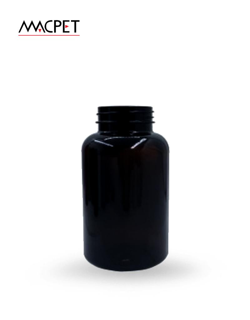 LINHA 6 – 330ml – Bocal 43mm – (F131B) – Embalagem pet Redonda para Capsulas e Suplementos