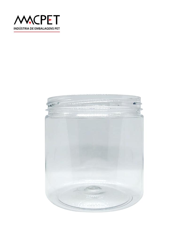 LINHA 09 – 500ml – Bocal 89mm – (F268) – Embalagem pet Redonda para Potes