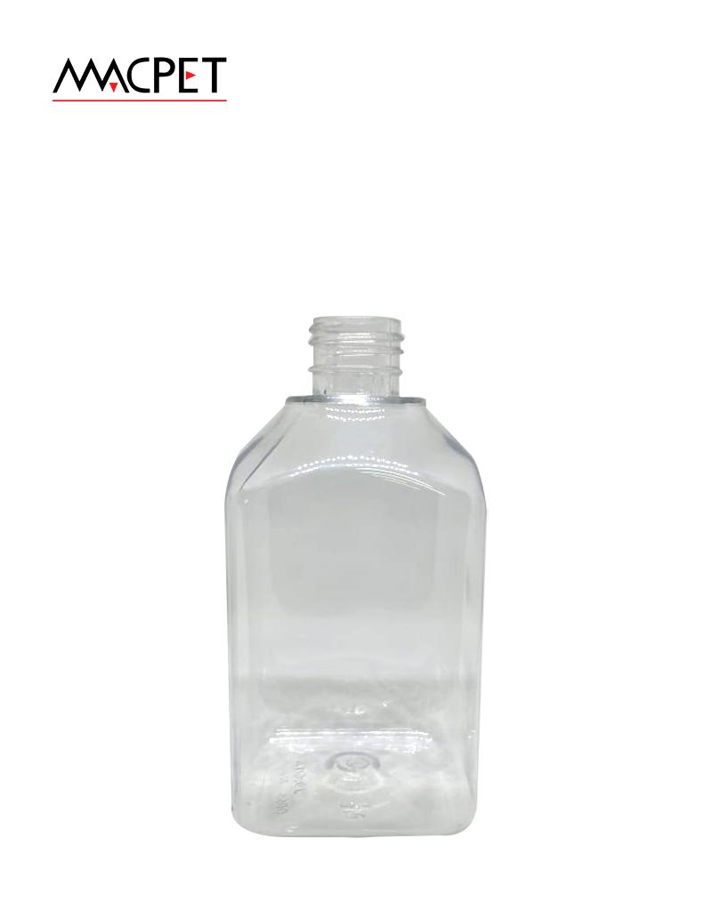 LINHA 43 – 300ml – 24mm – (F096C) – Embalagem pet Quadrada para Cosmeticos