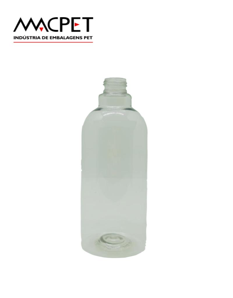LINHA 20 – 500ml – Bocal 24mm – (F279A) – Embalagem pet Redonda para cosméticos